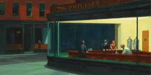 Edward Hopper's painting shows life in solitude and stillness